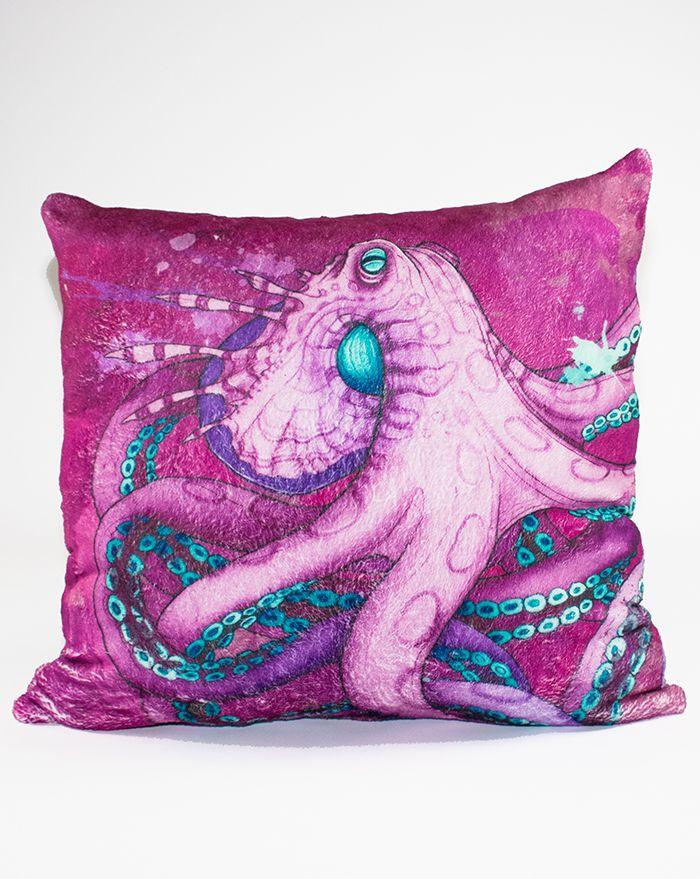 Mystic Seas Octopus Throw Pillow 22''
