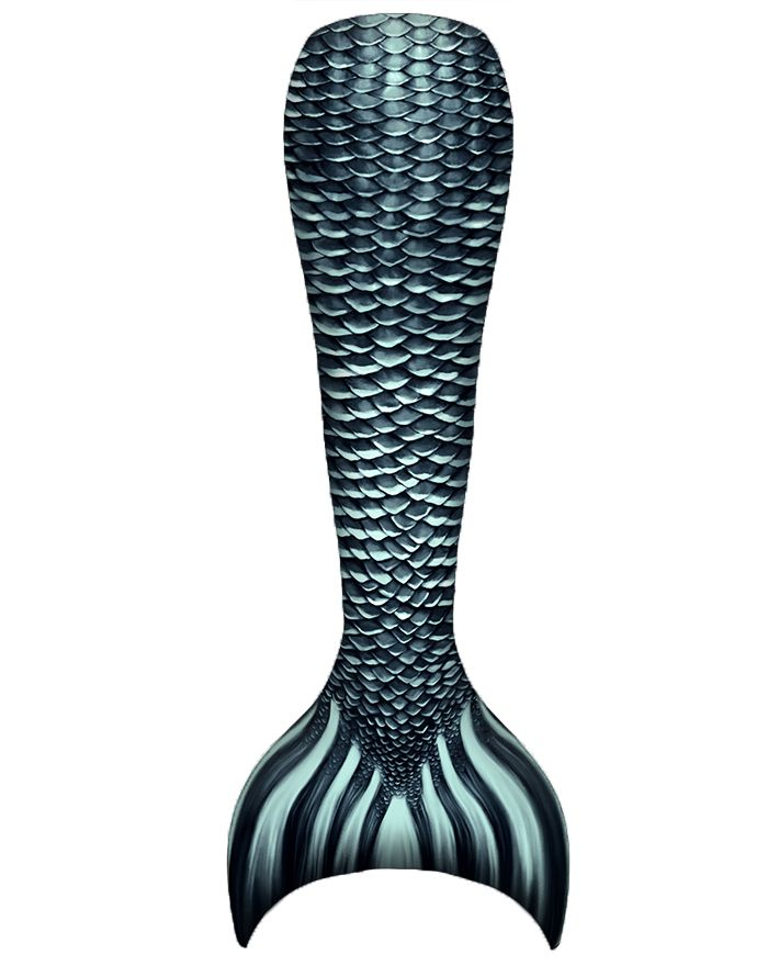 Kids Black Pearl Mermaid Tail Combo