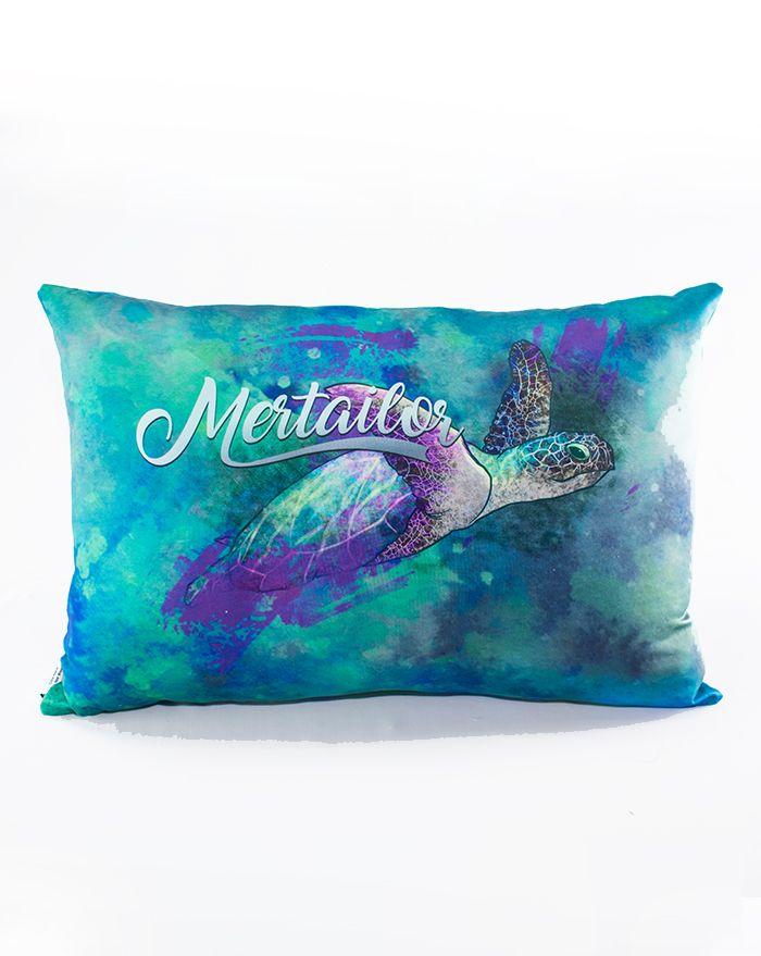 Mystic Seas Turtle Throw Rectangle Pillow