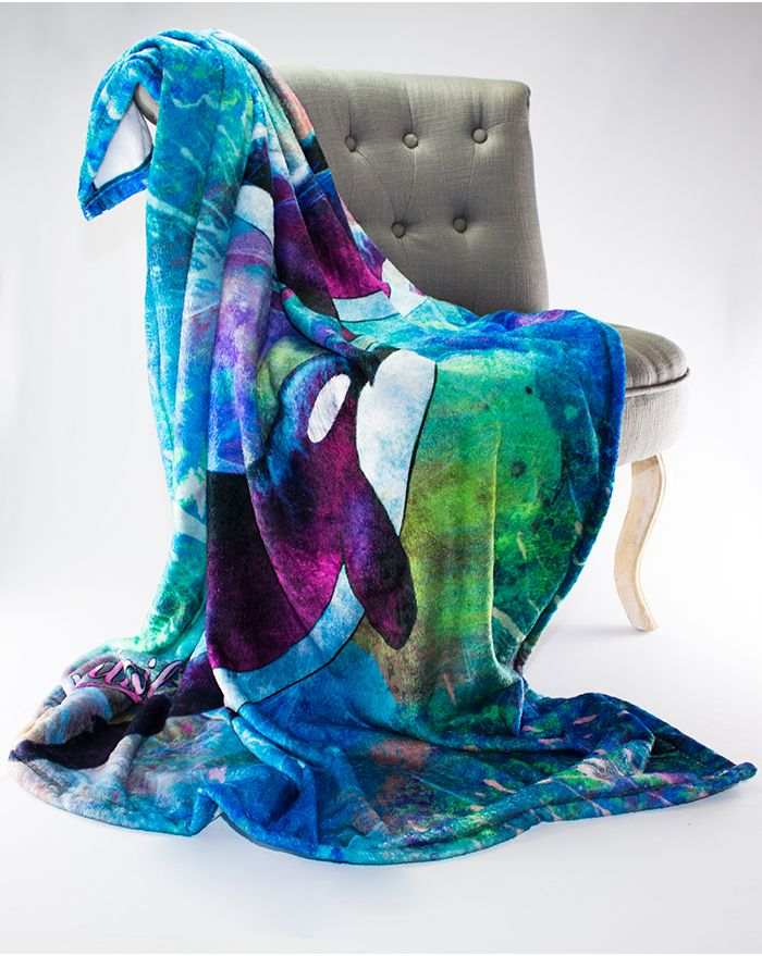 Mystic Seas Orca Whale Throw