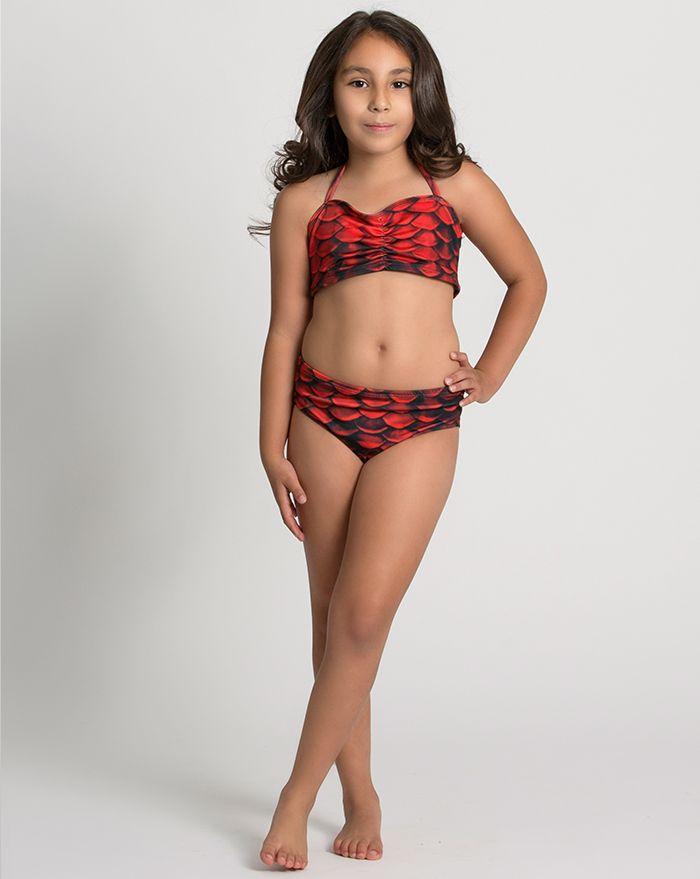 Kids Red Sea Bandeau Bikini Top