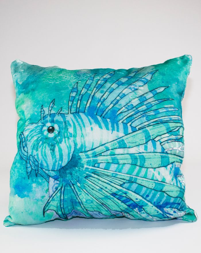 Mystic Seas Lionfish Throw Pillow 22''