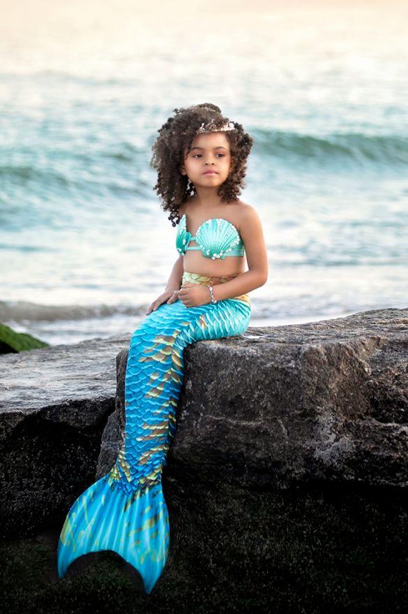 Kids Caribbean Dream Guppy Mermaid Tail Combo
