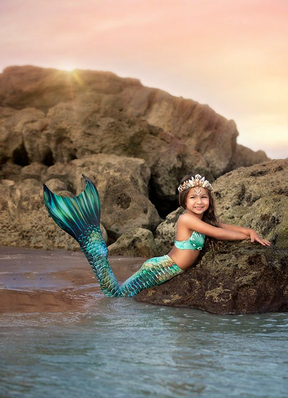 Kids Key Largo Guppy Mermaid Tail Combo