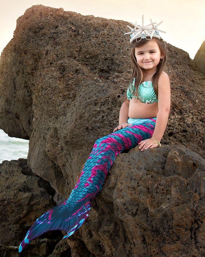 Kids Kraken Guppy Mermaid Tail Combo