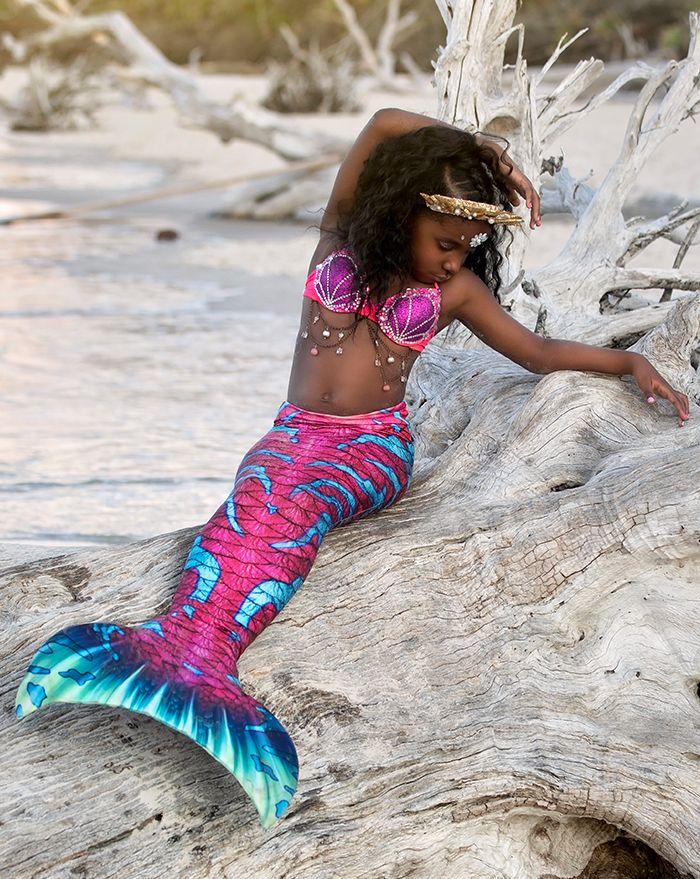 Kids Parrot Bay Guppy Mermaid Tail Combo