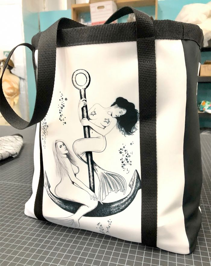 Mermaids and Anchor Tote