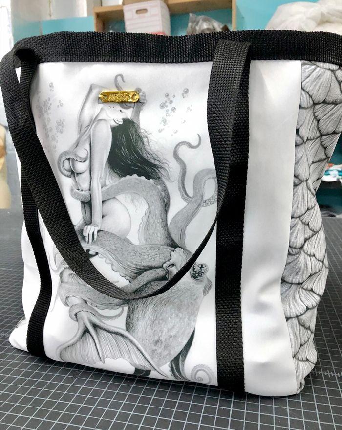 Mermaid and Octopus Tote