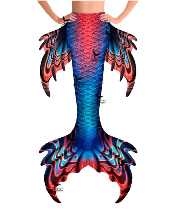 """Psychedelic Tides Whimsy Fantasea Tail """"Too"""""""