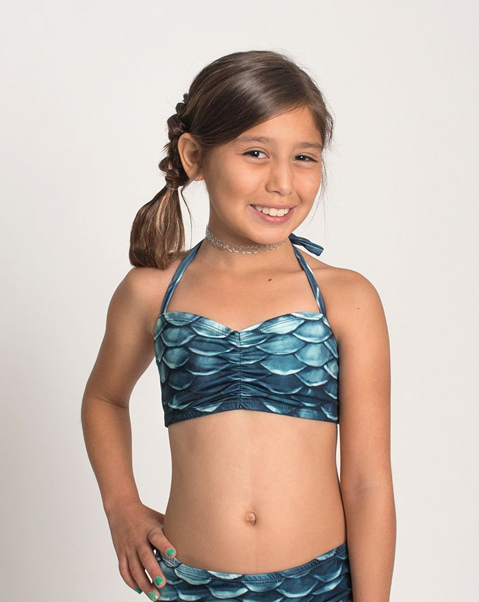 Kids Black Pearl Bandeau Bikini Top