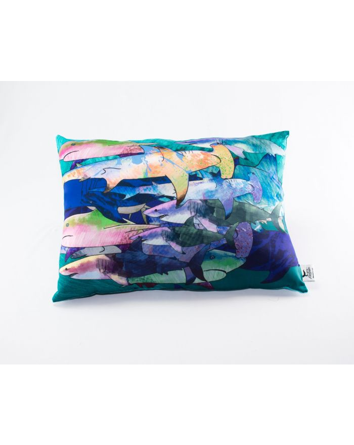 Mystic Seas Shark Bait Throw Rectangle Pillow