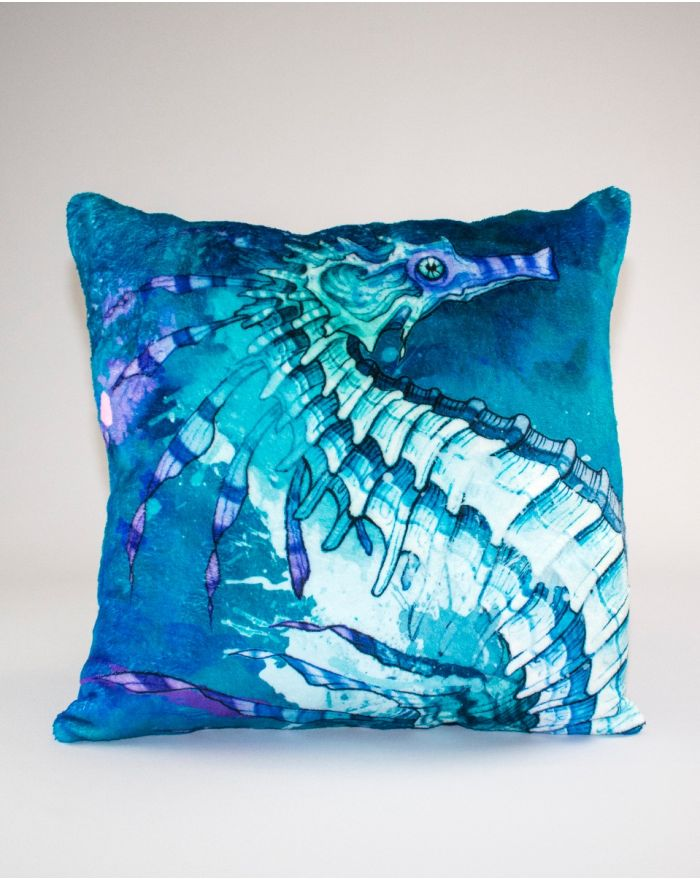 Mystic Seas Seahorse Throw Pillow 22''