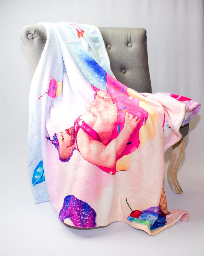 Cream Filled Merman Throw
