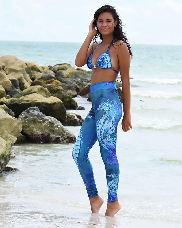 Mystic Seas Seahorse Legging