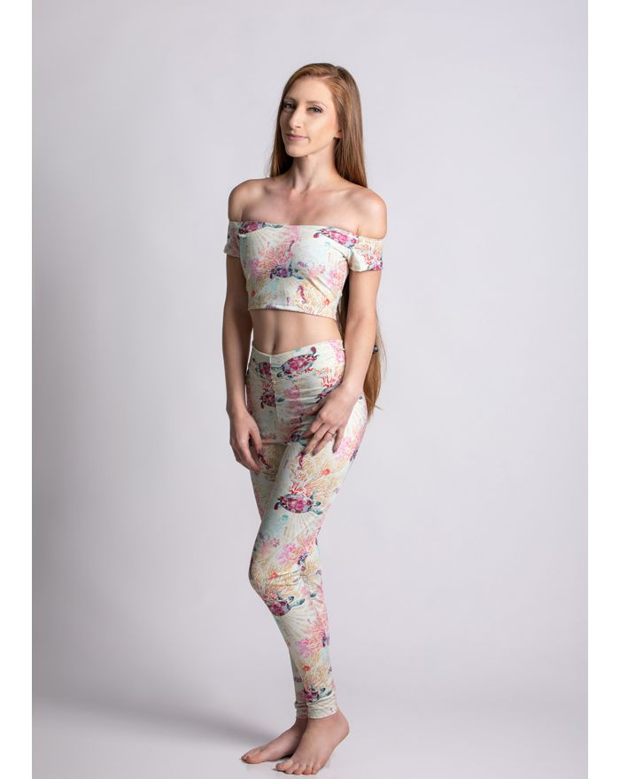 Sea Turtle Fields Legging