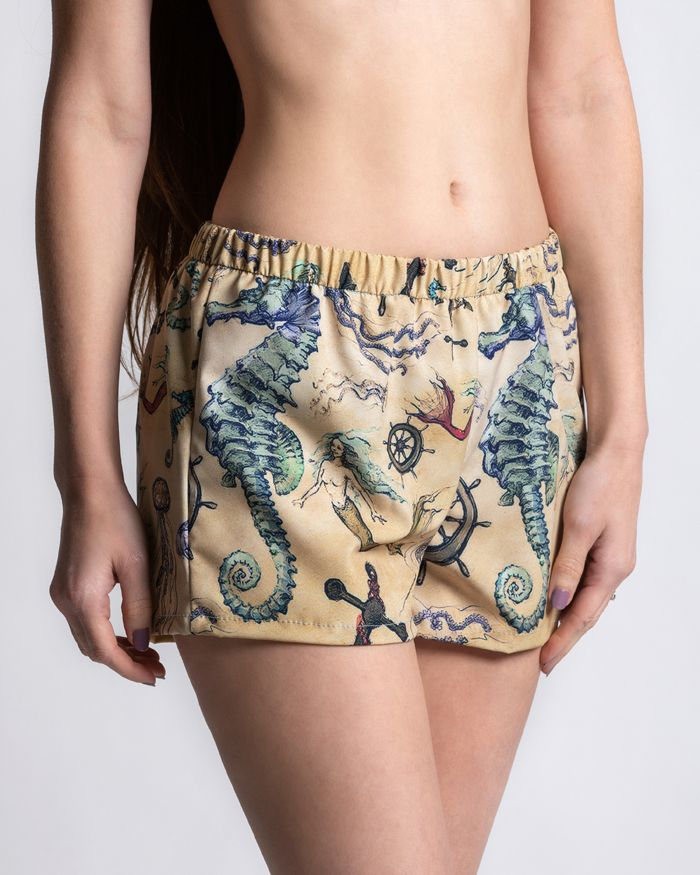 Vintage Mermaid Sportie Swim Short