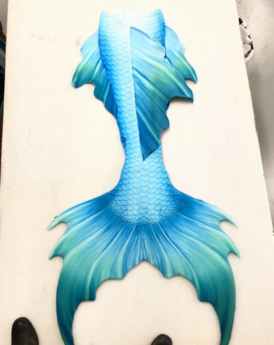 Aquamarine Whimsy Fantasea Merman Tail