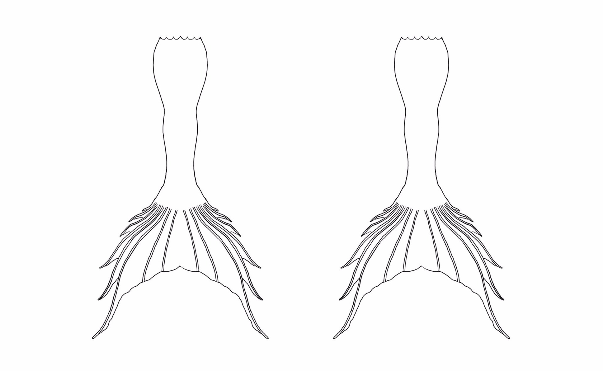 picture about Mermaid Tail Template Printable identified as Mermaid Tail Coloring Website page